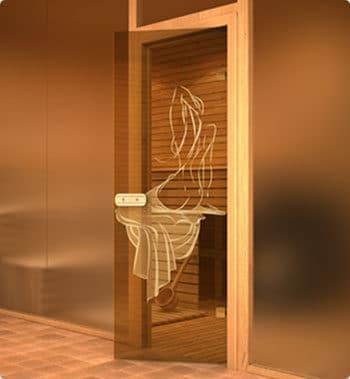 Стеклянные двери для саун и хамамов