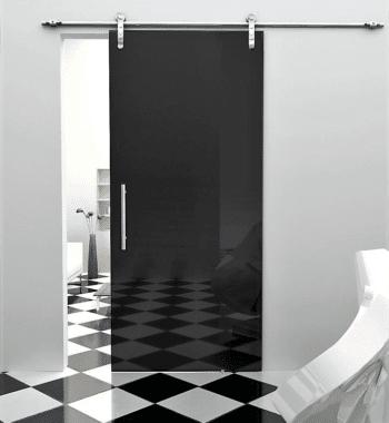 Раздвижная дверь из цветного стекла