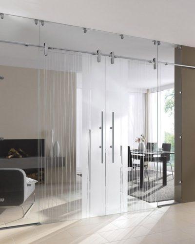 Раздвижные стеклянные стены