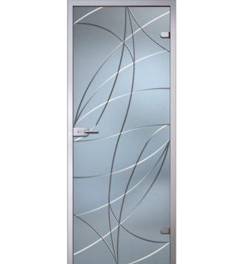 Стеклянная межкомнатная дверь с рисунком