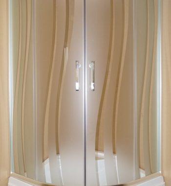 Душевой уголок из узорчатого стекла