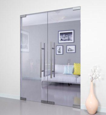 Маятниковая стеклянная дверь