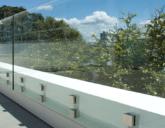 Ограждения на террасу из стекла