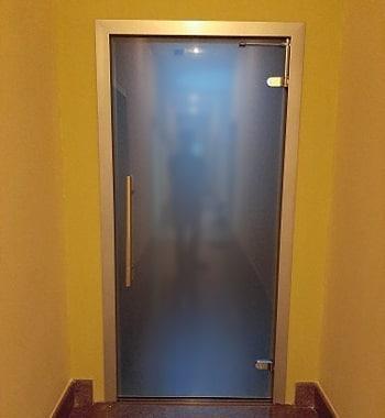 Стеклянная дверь Купе Лайт, Белое Сатинато