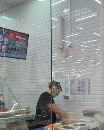 Защитный экран из стекла