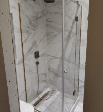Проект «Душевой уголок из стекла с распашной дверью»