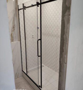 Проект «Перегородка из стекла в нишу с раздвижной системой»