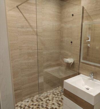 Проект «Перегородка из стекла в ванную комнату»