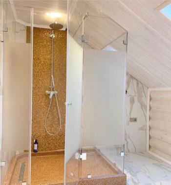 Проект «Душевая конструкция из бельгийского закаленного стекла AGC 8 мм»