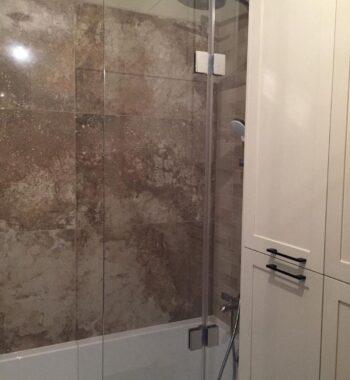 Проект «Стеклянное ограждение (шторка) на ванну из бельгийского закаленного стекла AGC 8 мм»