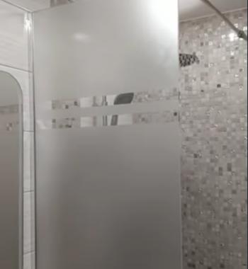 Проект  «Перегородка в душ из бельгийского закаленного стекла премиум класса #CrystalVision AGC 8 мм, матовое»