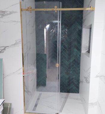 Проект «Душевая перегородка в нишу из бельгийского закаленного стекла премиум класса #CrystalVision AGC 8 мм»